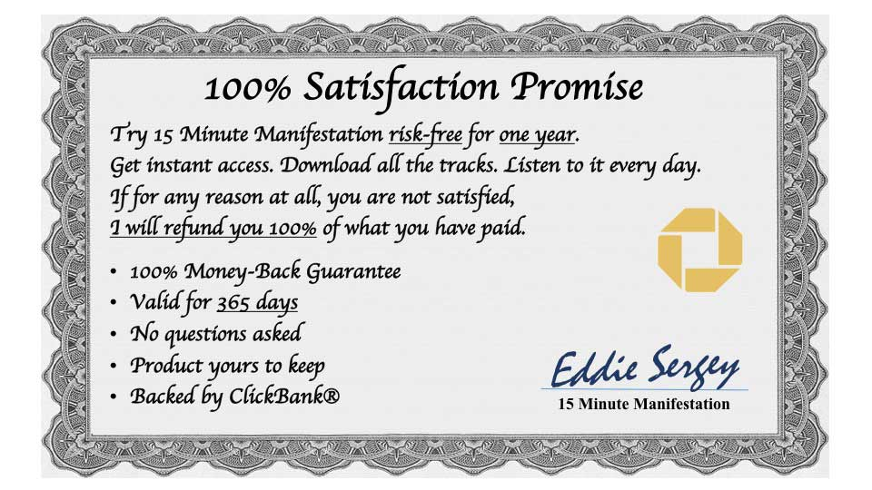 15 Minute Manifestation system guarantee