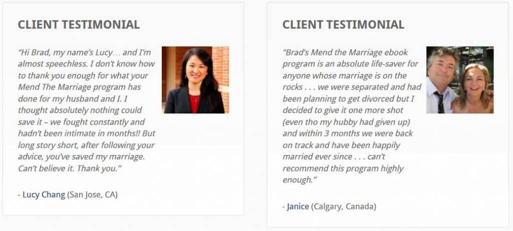 mend the marriage testimonials